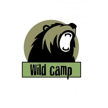 Naklejka Wild Camp 10x10cm