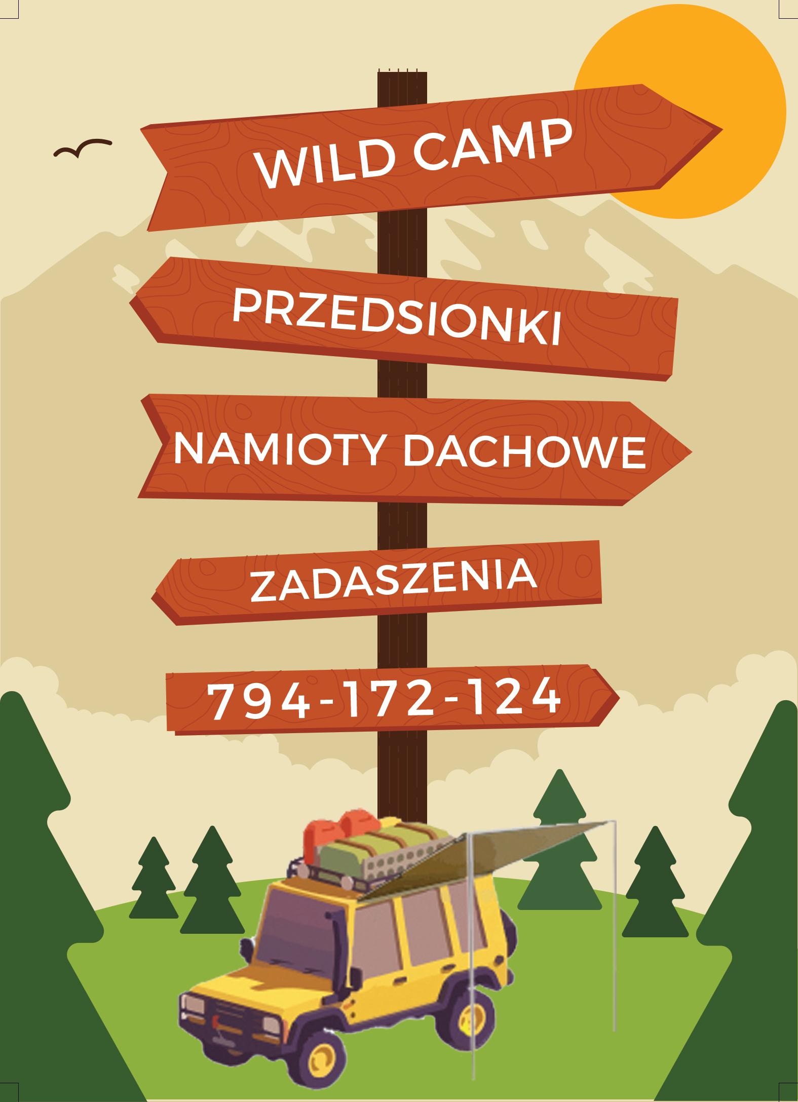 WildCamp - Namiot dachowy oraz znacznie więcej